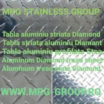 Tabla aluminiu striata antiderapanta decorativa Diamond 1.5 de la MRG Stainless Group Srl