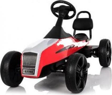 Kart electric pentru copii Go S2788 retro, rosu de la SSP Kinderauto & Beauty Srl
