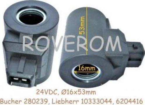Bobina 24V, d16x53mm, Liebherr A924, A934, A944, R313, R3 de la Roverom Srl