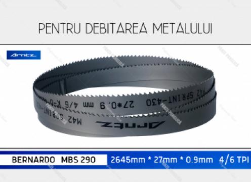 Panza fierastrau cu banda metal 2480x27x4/6 Bernardo MBS 280 de la Panze Panglica Srl