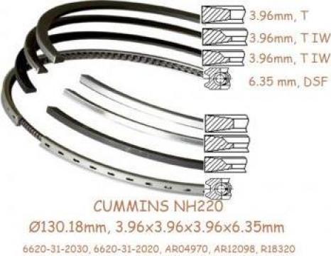Segmenti piston Cummins NH220, Komatsu D60, D65, 130.18mm