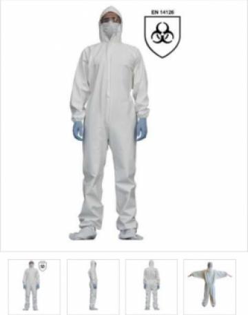 Combinezon de protectie impermeabil, Standard EN 14126, mari