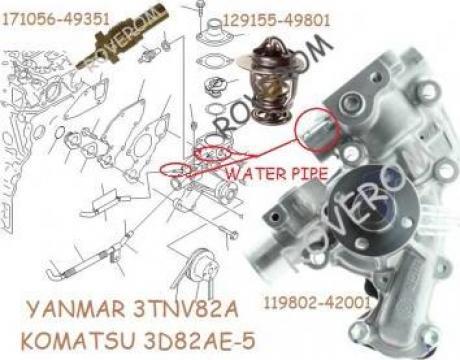 Pompa apa Yanmar 3TNV82A, Komatsu 3D82AE-5 Kobelco, Takeuchi