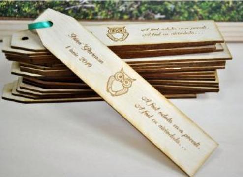 Semne de carte din lemn