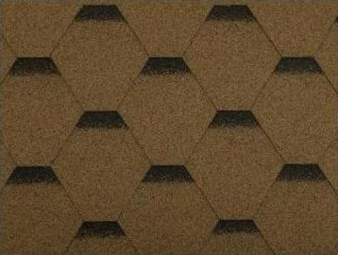 Sindrila bituminoasa Hexagonal, maro, 3 mp / bax de la Hille Group Srl