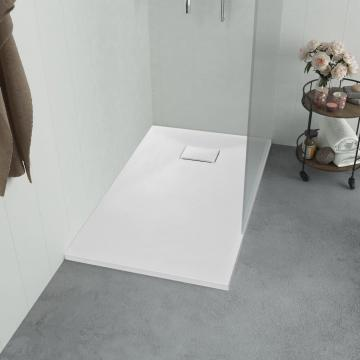 Cadita de dus, alb, 100 x 70 cm, SMC de la Vidaxl