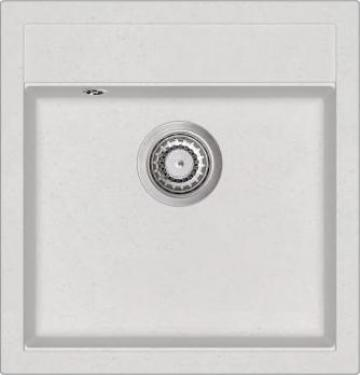 Chiuveta de bucatarie din granit, alb, bazin unic de la Vidaxl