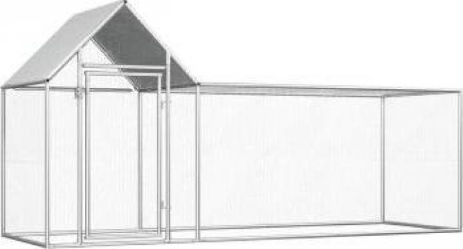 Cotet de gaini, 3 x 1 x 1,5 m, otel galvanizat de la Vidaxl