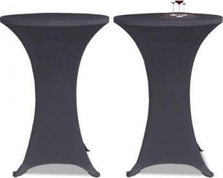 Husa elastica pentru masa, 60 cm, antracit, 2 buc.