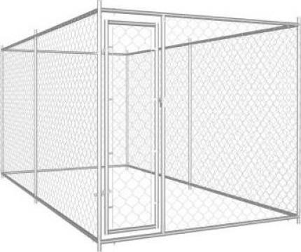 Padoc pentru caini de exterior, 382 x 192 x 185 cm de la Vidaxl