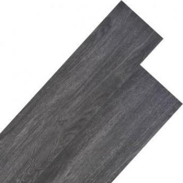 Placi de pardoseala, negru, 4,46 m2, PVC, 3 mm