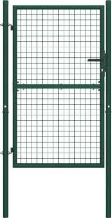 Poarta de gard, verde, 100 x 200 cm, otel