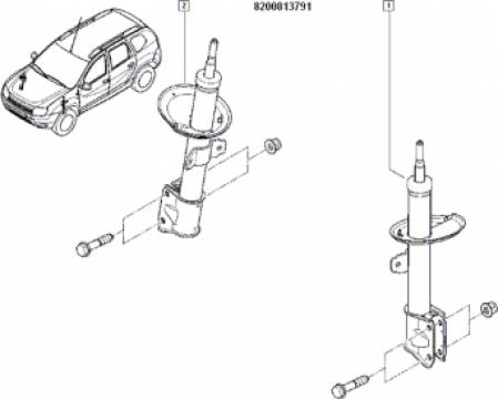 Amortizor fata Dacia Duster 62981