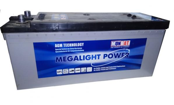 Acumulator solar AGM, Monbat Megalight 12V/220Ah de la Green Seiro Montage