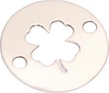 Bratara Trifoi norocos, Argint 925 banut 10mm, snur rosu