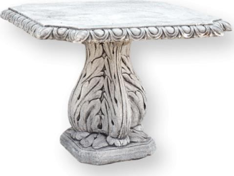 Masa din marmo-ciment Patrata de la Cementarte Srl