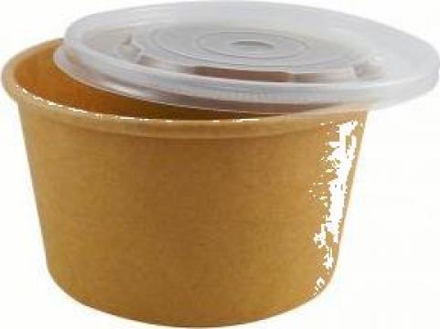 Bol supa carton natur 16oz (473cc) 100 buc/set de la Cristian Food Industry Srl.