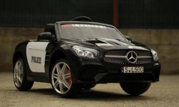 Jucarie masinuta electrica de politie Mercedes SL500 90W