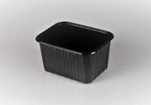 Caserola premium neagra fructe 1000g fara capac 100 buc/set de la Cristian Food Industry Srl.