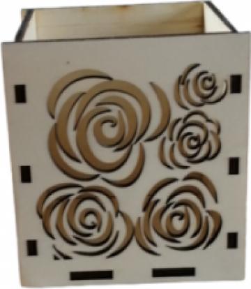 Cutie lemn aranjamente florale , 10x12 cm