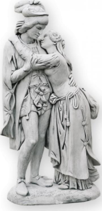 Statuie gradina cuplu Romeo si Julieta S27 de la Cementarte Srl