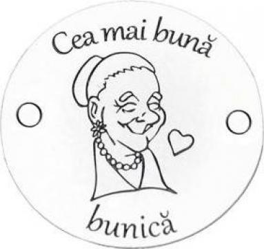 Bratara Cea mai buna bunica, banut Argint 925 inscriptionat