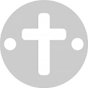 Bratara Cruciulita Argint 925, snur negru, unisex