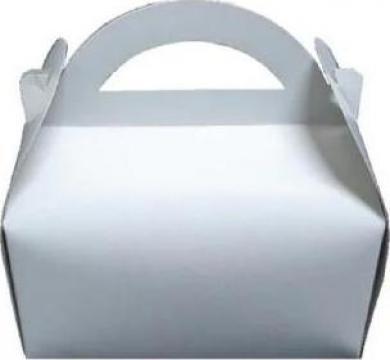 Cutie alba prajituri 12x18x12,5cm 25 buc/set de la Cristian Food Industry Srl.