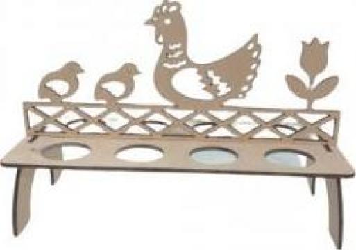 Suport lemn pentru 8 oua