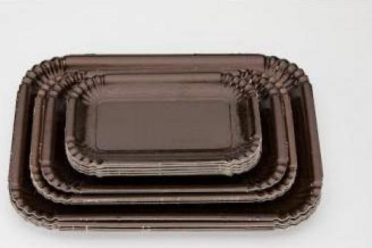 Tavite groase carton maro N.3 (16,5x23,5cm) de la Cristian Food Industry Srl.