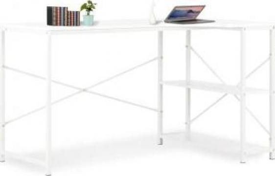 Birou de calculator, alb, 120 x 72 x 70 cm de la Vidaxl