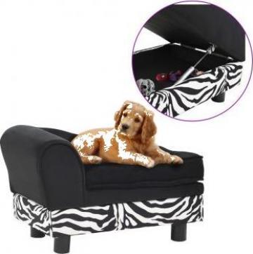 Canapea pentru caini, negru, 57x34x36 cm, plus de la Vidaxl