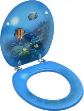 Capac WC, MDF, subacvatic