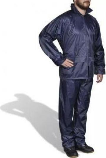 Costum ploaie barbati 2 piese cu gluga Bleumarin L de la Vidaxl