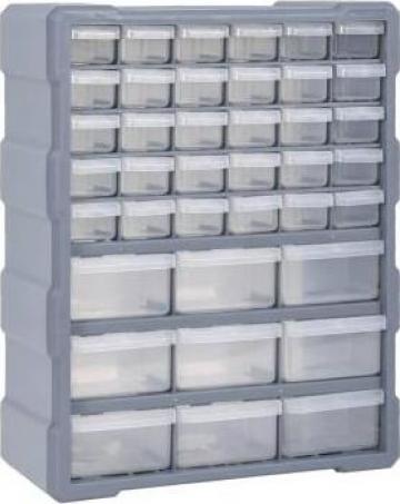Organizator cu 39 de sertare, 38 x 16 x 47 cm