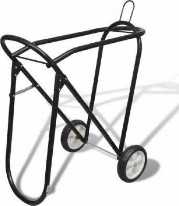 Suport metalic de sa pliabil cu roti