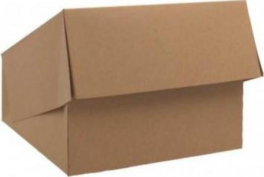 Cutie carton kraft natur prajituri 20x20x8cm,25 buc/set de la Cristian Food Industry Srl.