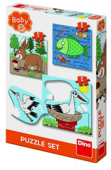 Joc Baby Puzzle - Unde locuiesc animalele? de la A&P Collections Online Srl-d