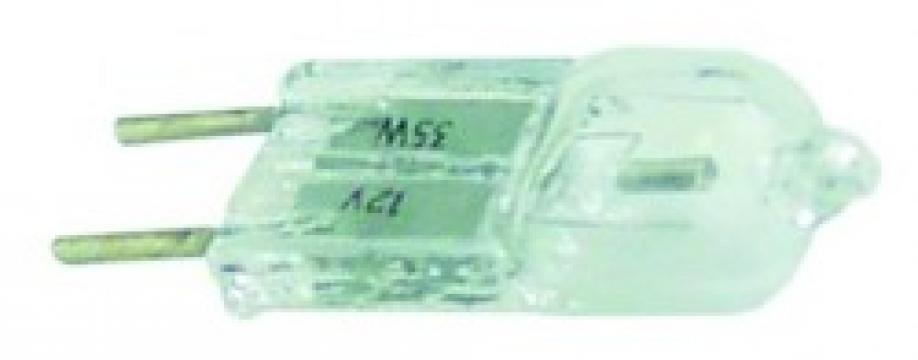 Bec halogen rezistent la temperatura, soclu G6.35