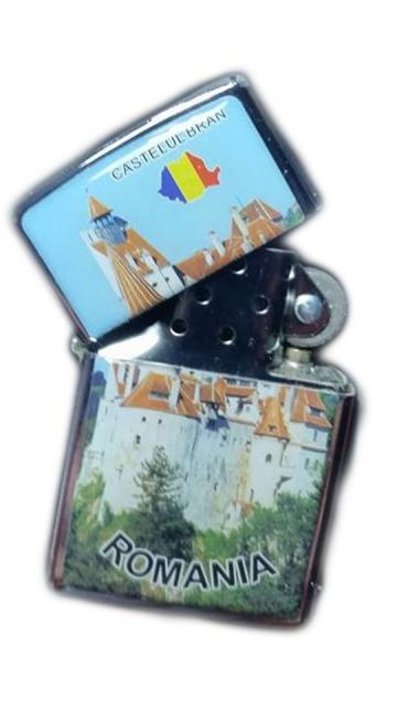 Bricheta metalica cu benzina personalizata Castelul Bran de la Dali Mag Online Srl