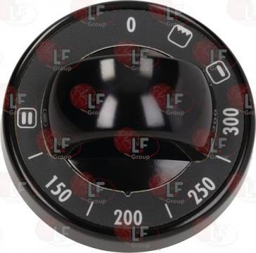 Buton negru cu lumina albastra 70 mm 150-300C