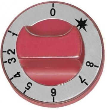 Buton termostat de gaz 1-8, 65 mm, ax 8x6,5mm