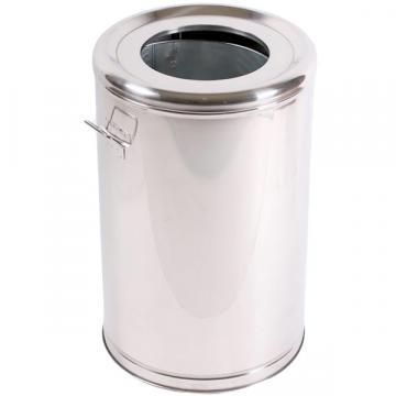 Cos de gunoi inox cu galeata interioara metalica