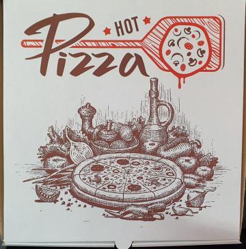 Cutie alba Hot Pizza 25x25x3,5cm 50 buc/set de la Cristian Food Industry Srl.