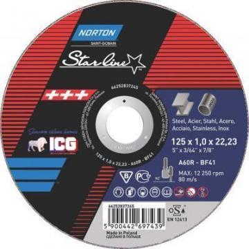 Disc taiere Norton Starline 125x1mm de la ICG Center
