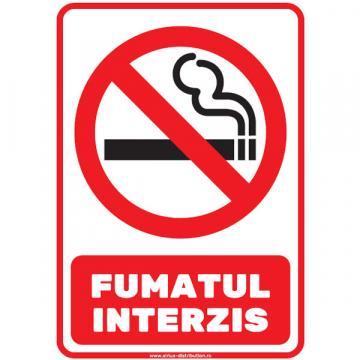 Indicator autocolant Fumatul interzis PVC plastifiat
