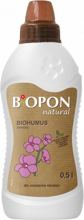 Ingrasamant natural Biohumus Orhidee 0.5 litri de la Impotrivadaunatorilor.ro