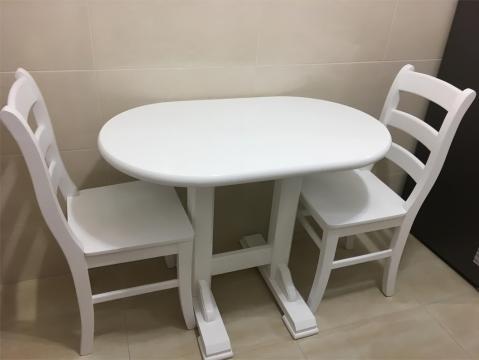 Masa dublu Pedestal cu scaune MD106