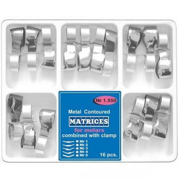 Matrici conturate metalice cu maner de fixare, premolari