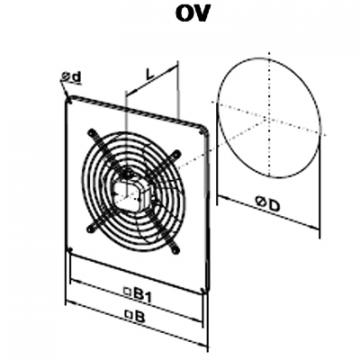 Ventilator axial OV 6D 710